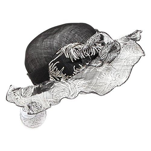Cerimonia bianco Nero Women Hat Falda Cappello Accessori Donna Complit 9102o Cx5pzq