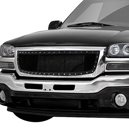 MPH Black Powder Coated Grille Replacement for select 03 04 05 06 GMC Sierra 1500 Models
