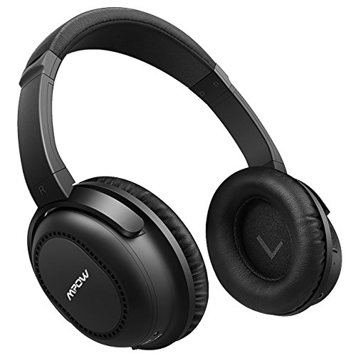 Mpow H8 Active Noise Cancelling Bluetooth Headphones Over Ear/On Ear Compact, Both Wired & Wireless Headphones w/mic, Stereo Foldable Headset with Carrying Case for PC/Cell Phones/TV