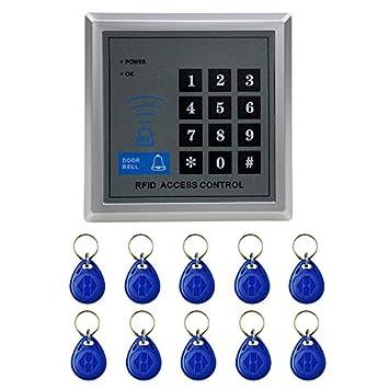 Electronic RFID Proximity Entry Door Lock Access Control System + 10 Key Fobs SH  sc 1 st  Amazon.com & Amazon.com : Electronic RFID Proximity Entry Door Lock Access ... pezcame.com