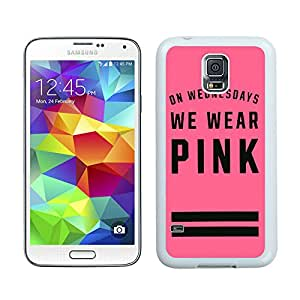 Victoria's Secret Love Pink 48 Custom Design Cell Phone Cover Case for Galaxy S5 SV I9600 White