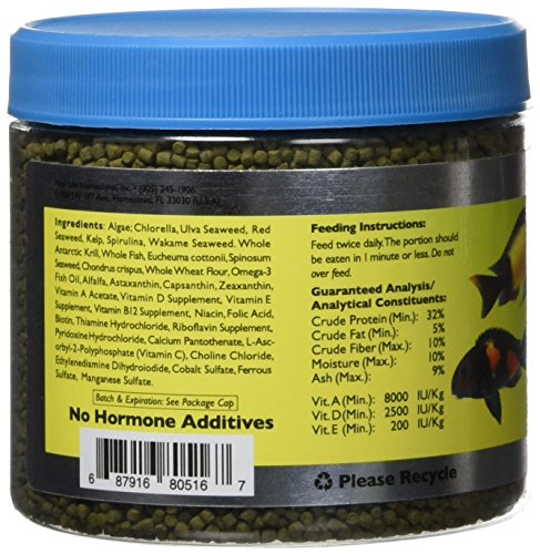 Image of New Life Spectrum AlgaeMAX 2mm Enhanced Algae Pellet Pet Food,250gm