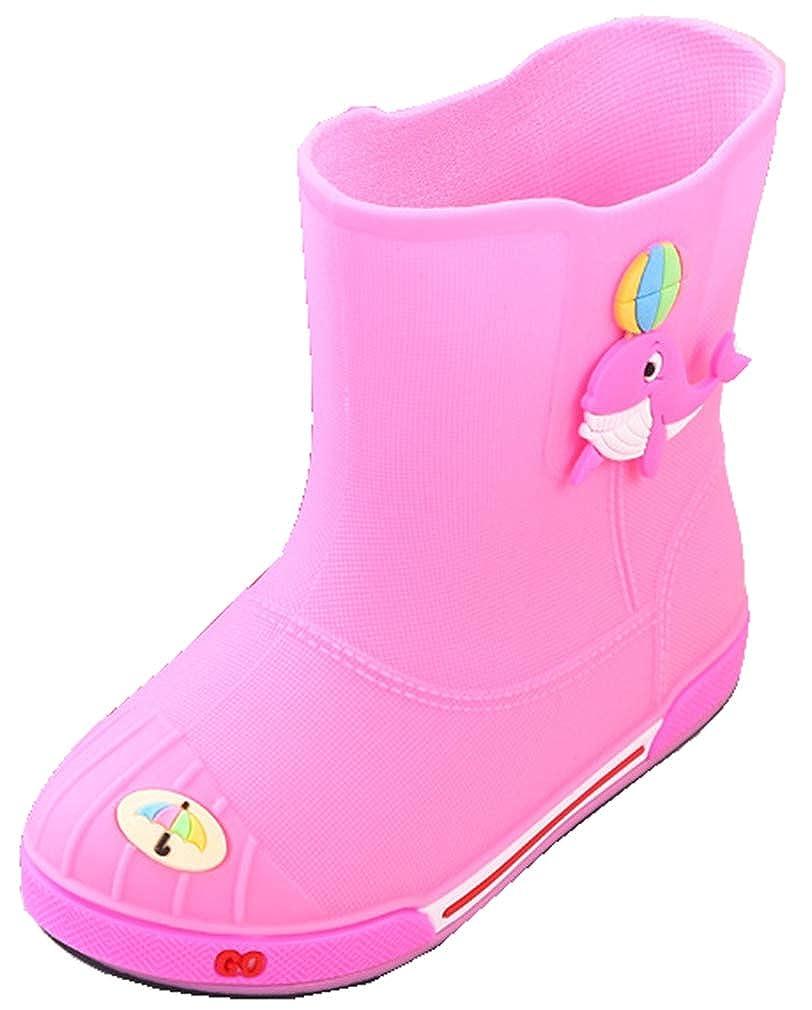 VECJUNIA Boys Girls Trendy Rain Boots High Top Shoes