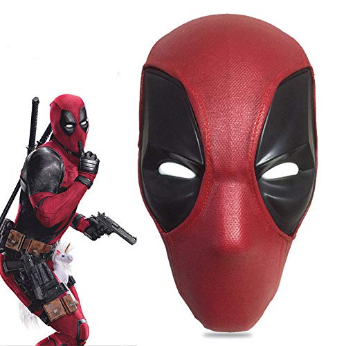 Deadpool 2 Mask/Helmet Plastic with Two Sets of Magnetic Lenses Prop Cosplay Red -