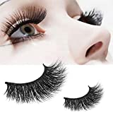 GreatFun 1 Pair Crisscross 3D False Eyelashes Long Thick Natural Fake Eye Lashes