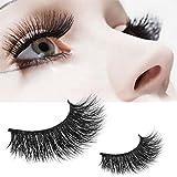GreatFun 1 Pair Crisscross 3D False Eyelashes Long Thick Natural Fake Eye Lashes