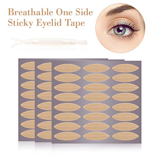 120 Pairs Breathable Fiber Single Side Eyelid Tape Stickers-Perfect for Hooded, Droopy, Uneven, or Mono-eyelids-Instant Eye Lift Without Surgery(120Pairs Wide) (Lift Eyelid Surgery)