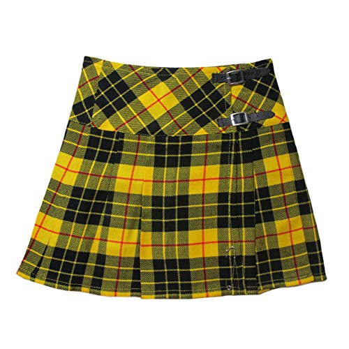 Tartan Wool Skirt - Tartanista Womens 16.5 Inch Scottish Tartan Mini Kilt Skirt Macleod of Lewis 8 US