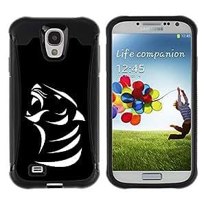 Suave TPU GEL Carcasa Funda Silicona Blando Estuche Caso de protección (para) Samsung Galaxy S4 IV I9500 / CECELL Phone case / / B & W Cougar Mountain Lion /