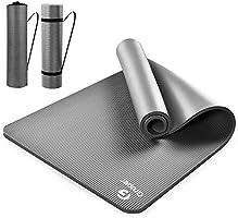 Gruper Yogamatte rutschfest, 183cm Länge 80cm Breite,Gymnastikmatte rutschfest und Fitness-Matten+Trageband + Tasche,...