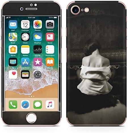 igsticker iPhone SE 2020 iPhone8 iPhone7 専用 スキンシール 全面スキンシール フル 背面 側面 正面 液晶 ステッカー 保護シール 006593 写真・風景 写真 人物 モノクロ