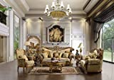 Aprilia Luxurious European Style Sofa and Love Seat with Accentuated Pillows