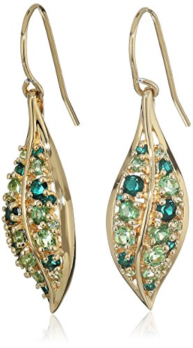Sterling Plating Peridot Crystal Earrings product image