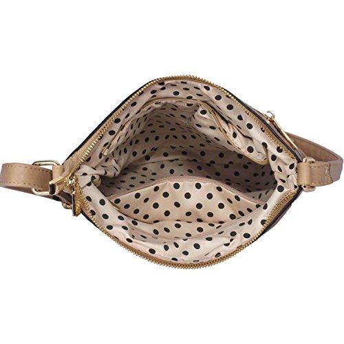 A tracolla da donna in pelle sintetica Xardi Londra Progettista borsetta a tracolla da donna ragazze scuola Taupe Style 2