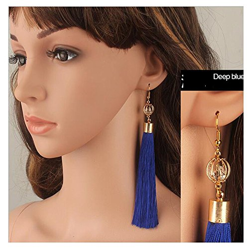 luck-wang-ladys-unique-national-wind-retro-exaggerated-tassel-long-section-earringsbule