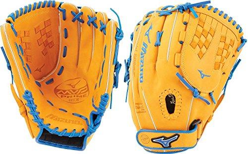 (Mizuno MVP Prime SE Fastpitch GMVP1250PSEF Infield/Outfield/Pitcher Model Gloves, Cork/Royal, 12.5