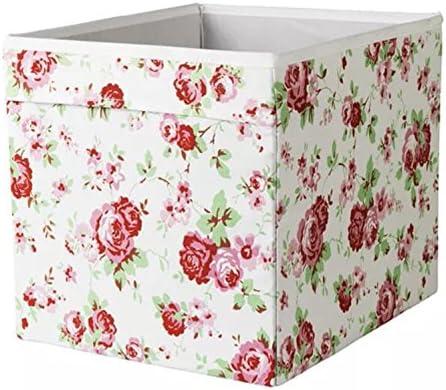IKEA Drona Caja, Diseño de flores, Pack de 5: Amazon.es: Hogar