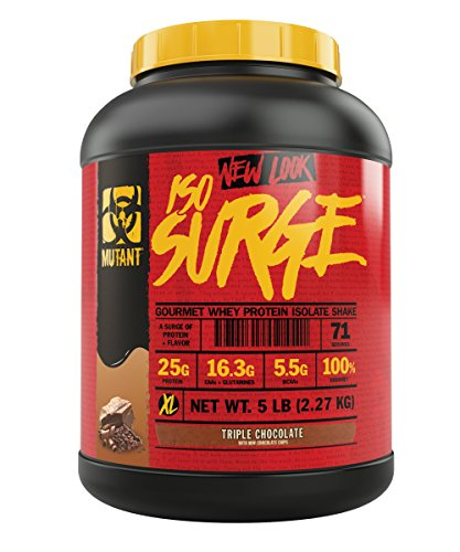 Mutant ISO Surge Whey Protein Powder Acts FAST to Help Recover, Build Muscle, Bulk and Strength, Uses Only High Quality Ingredients, 5 lb - Triple Chocolate (Best High Quality Protein Powder)