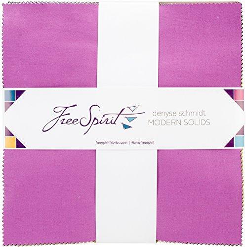Freespirit Fabrics FB610DS.MODRN Modern Solids Denyse Schmidt Charm Pack, 10'' x 10'' by Free Spirit Fabrics