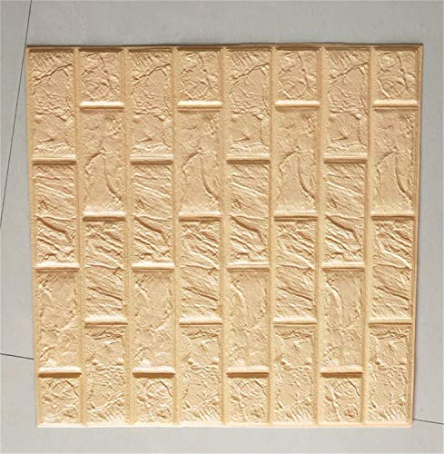 4 Size 3D Brick Wall Stickers Wallpaper Decor Foam Waterproof Wall Covering Wallpaper Beige 60 X 7.5 X 0.85cm - Kmart Wallpaper