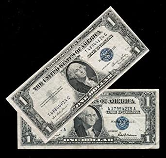 1935 And 1957 Silver Certificates Blue Seal Set Of 2 Very Good