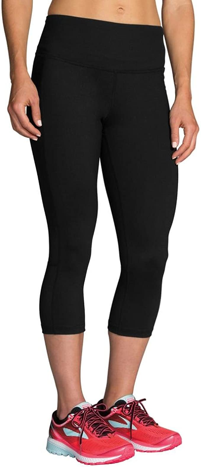 Brooks Greenlight 3//4 Capri Womens Running Tights Black