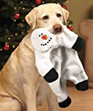 Snowman Squeaky Seasonal Stuffing-Free Dog Toy, My Pet Supplies