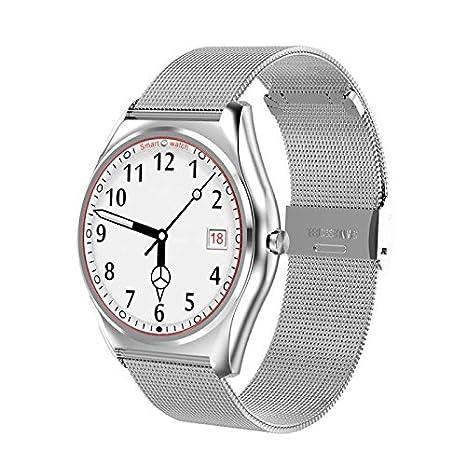 Bluetooth Smart Watch Reloj Inteligente Reloj Deportivo Fitness Relojes, con Rastreador de Actividad, Podómetro,Sueño, Notificación de SMS Soporte para ...