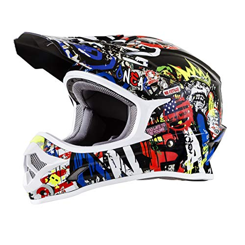 O'Neal Unisex-Adult Off-Road Style 3 SRS Helmet Rancid Multi L (Large)