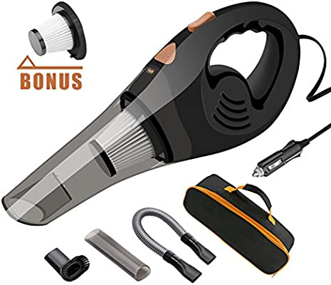 Power Cord Carrying Bag 5M Car Vacuum Cleaner High Power DC 12V 100W Strong Suction Portable Handheld Auto Vacuum Cleaner for Car with 16.4FT
