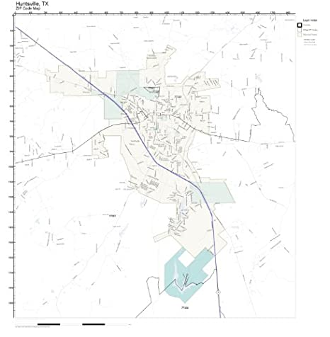 Huntsville Tx Zip Code Map.Amazon Com Zip Code Wall Map Of Huntsville Tx Zip Code Map