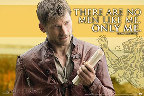 Pyramid America Game of Thrones Jaime Lannister Only Me Quote Laminated Dry Erase Sign Poster 12x18