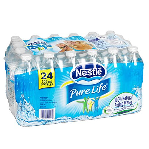 $2.99 (was $5.99) Nestle Pure Life 100% Natural Spring Water 24 Count, 500ml