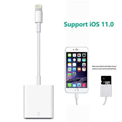 new styles d7d89 7b17f Amazon.com: Lightning to SD Card Reader for iPhone iPad, LECMARK ...