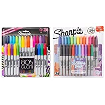 Sharpie Fine Point Permanent Markers, 80s Glam and Electro Pop Colors, 48 Markers In Total by Sharpie