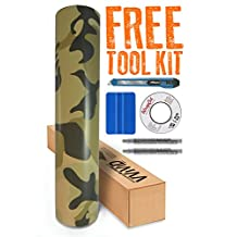 VVIVID8 Desert Camouflage vinyl car boat vehicle wrap 15ft x 5ft self adhesive stretch conform decal with free installation tools