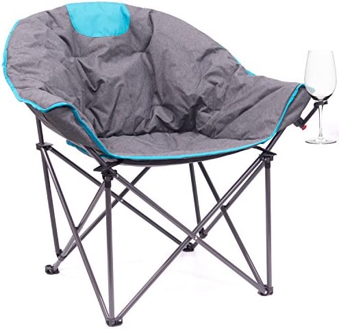 Creative Outdoor Distributor Bucket Wine Chair Moon Chair, Blue Grey