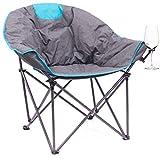 Creative Outdoor Distributors Bucket Wine Chair Moon Chair, Blue/Grey