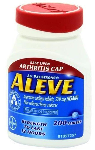Aleve Tablets with Easy Open Arthritis Cap, 200 Count (Pack of 1)