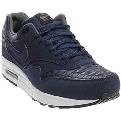 new arrival 9c407 e7966 Nike Air Max 1 Woven Men s Sneaker Shoes Midnight Navy Black 725232-400 (