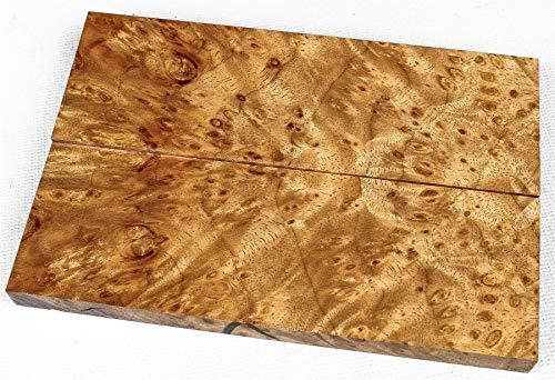Top Notch Pepperwood Burl, Full Size Knife Scales, Grips, Craft Wood SCL6768 ()