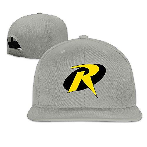 Nobee Unisex Teen Titans Go Robin Logo Snapback Adjustable Flat Baseball Hat/Cap (Robin Custome)