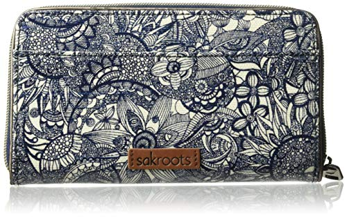 Sakroots Large Zip Around Wallet, Navy Spirit Desert for sale  Delivered anywhere in USA