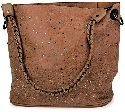 styleBREAKER - Bolso cruzados para mujer marrón - marrón