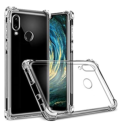newest 5bc84 10a5b Tarkan Shock Proof Protective Back Case Cover [Bumper Corners with Air  Cushion Technology] for Huawei P20 Lite (Transparent)