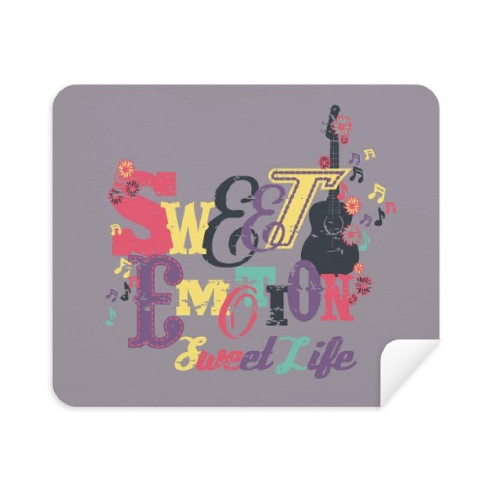 パープル汗音楽パターンIllustrate電話画面クリーナーメガネクリーニングクロス2個スエードファブリック   B07C942W17