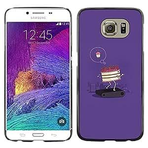 Be Good Phone Accessory // Dura Cáscara cubierta Protectora Caso Carcasa Funda de Protección para Samsung Galaxy S6 SM-G920 // cake diet funny poster motivational