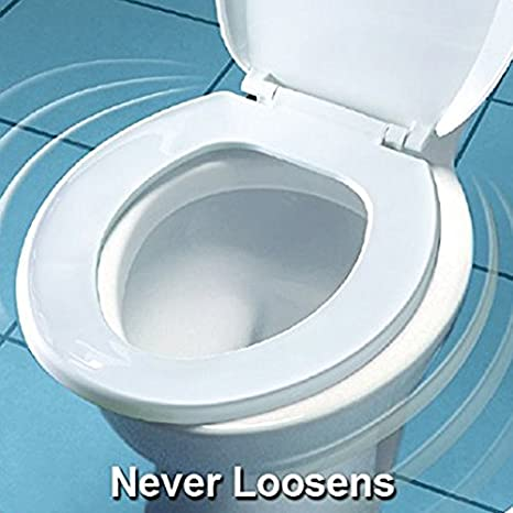 Bemis 1955CT 000 Commercial Plastic Open Front Toilet Seat with STA ...
