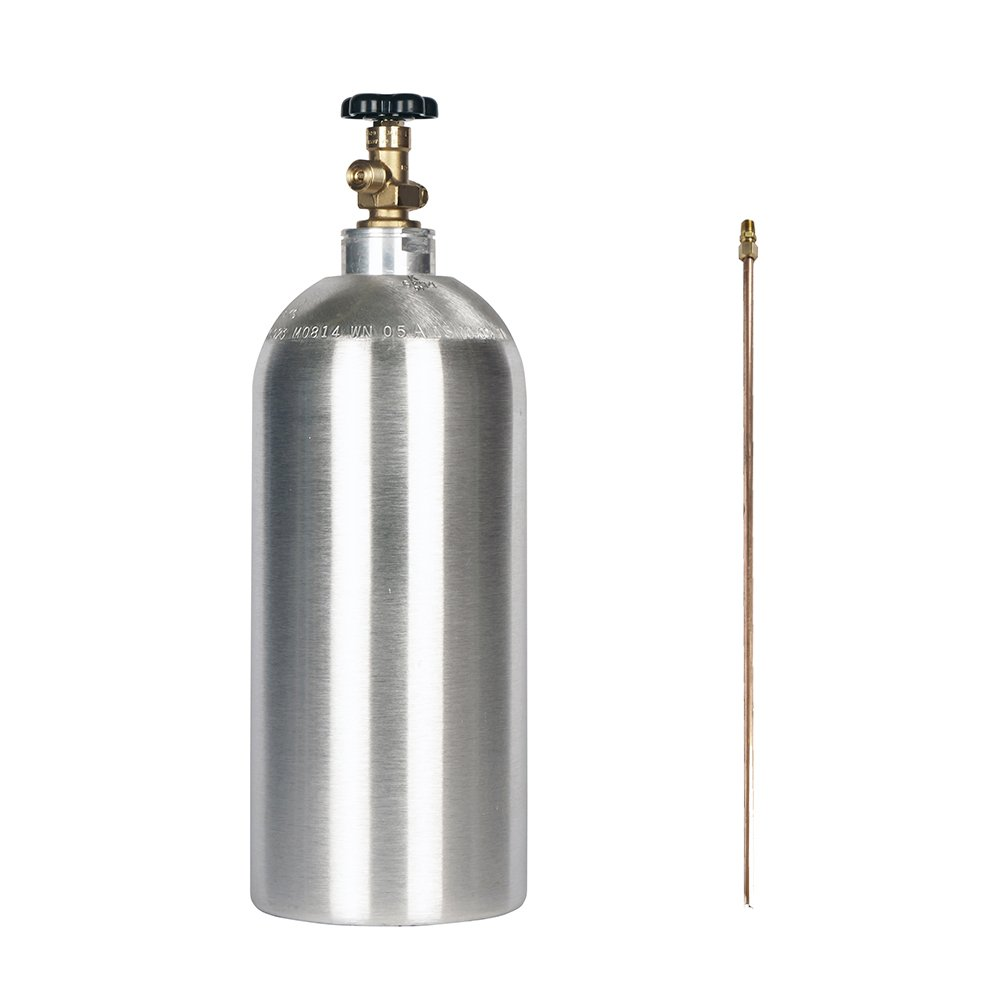 10lb co2 New Aluminum Cylinder with Siphon Tube CGA320 Valve