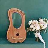 Horse Lyre Harp,10 Metal String Bone Saddle Lye